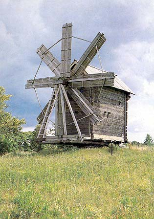 1985. Kizhi. Windmill from the village of Volkostrov