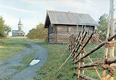 1980's. Kizhi. Tchepin's house from the village of Volkostrov. 1907