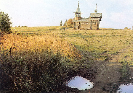 1980's. Kizhi. Chapel from Lelikozero village, XVIII