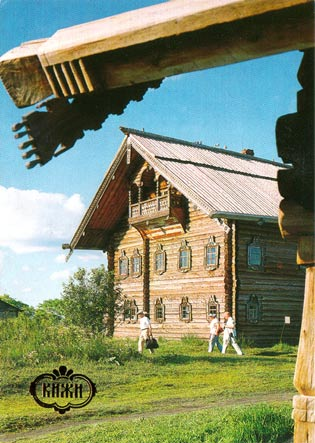 1991. Kizhi. The Jakovlev House from the village of Kletcheila, 1880-1890