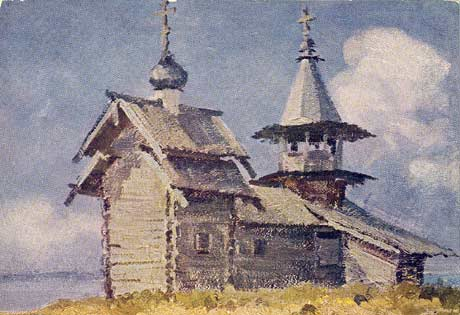 1965. The chapel from the vollage of Lelokozero on the Kizhi island