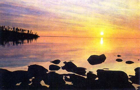 1975. Valaam. The evening on the Ladoga Lake