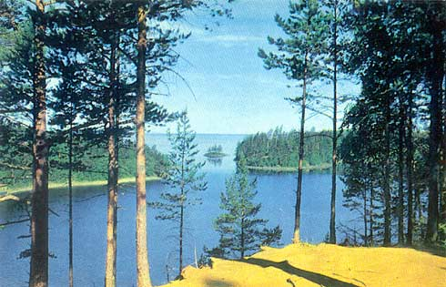 1975. Valaam. The site from The Yellow Skete Chapel