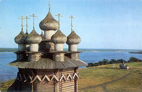 1970. Kizhi. The Church of the Intercession, 1764. Domes