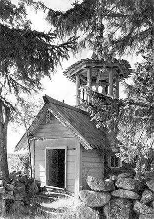 1967. Chapel of the village of Poduelniki near Kizhi. XIX