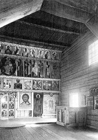 1967. Kizhi. Interior of the Church of the Intercession