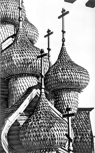 1968. Kizhi. Domes of the Church of the Transfiguration
