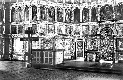 1968. Kizhi. Interior of the Church of the Transfiguration