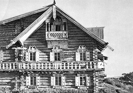 1967. Kizhi. The Oshevnev House. Detail