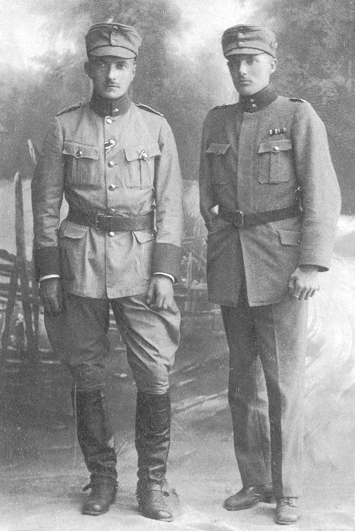 February 1918. Jäger officers Gunnar von Hertzen and Ragnar Nordström