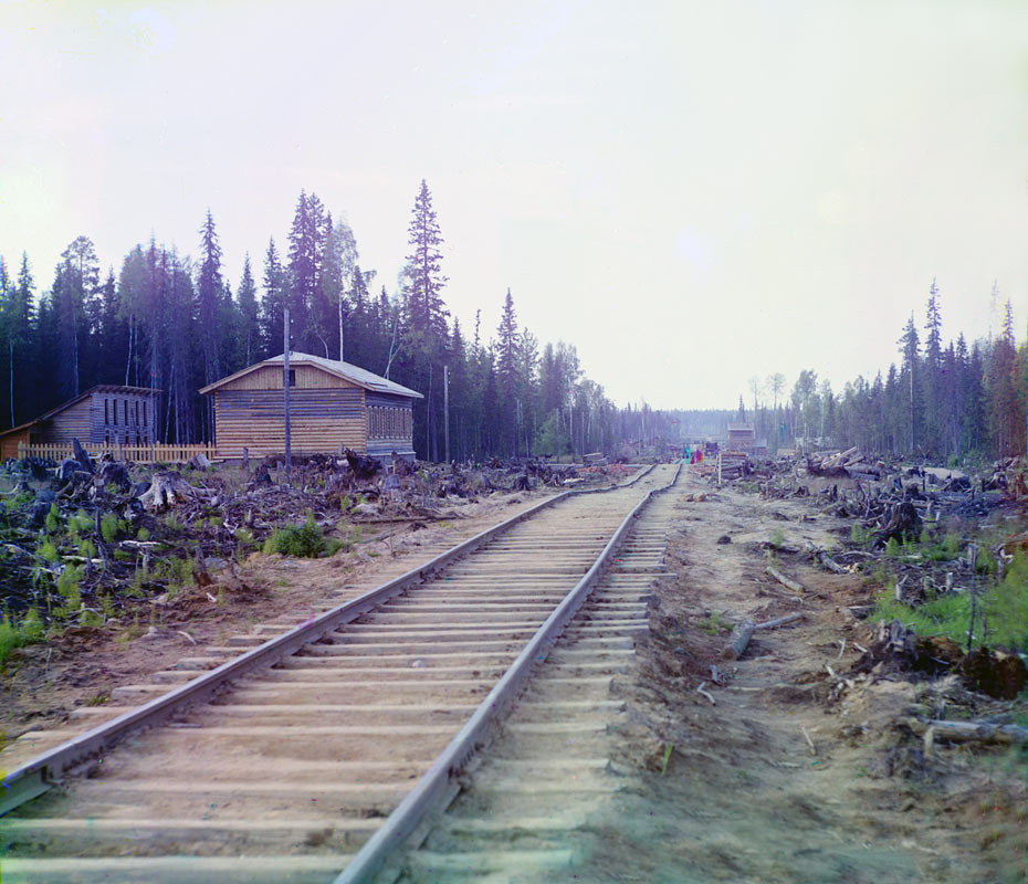 1915. The construction of railway