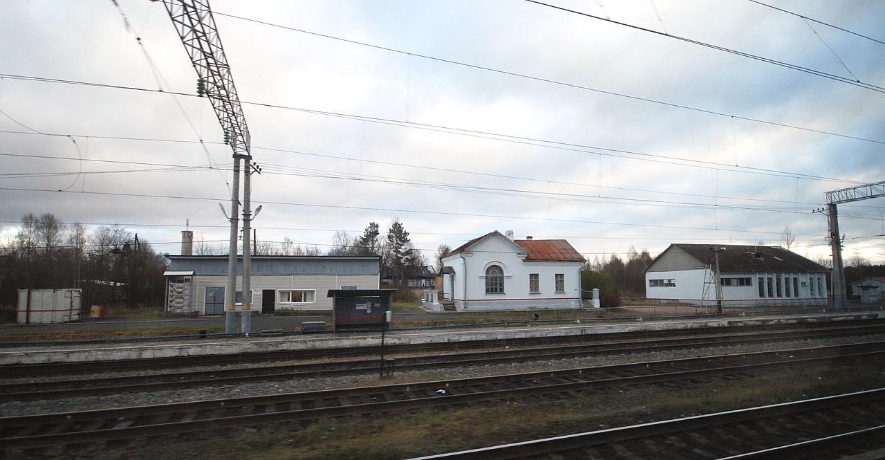 27 октября 2018 года. Станция Деревянка. Железнодорожная станция