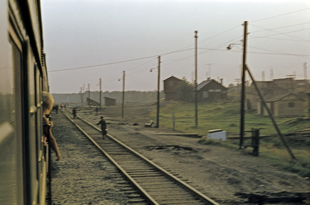 1972. Derevjanka station. Railway station