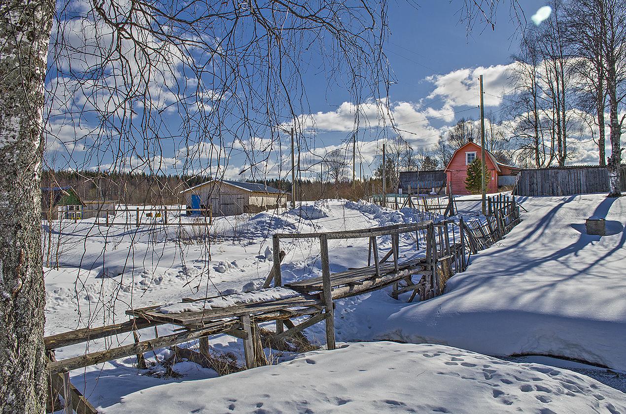 March 22, 2016. Derevjanka station. Derevjanka River
