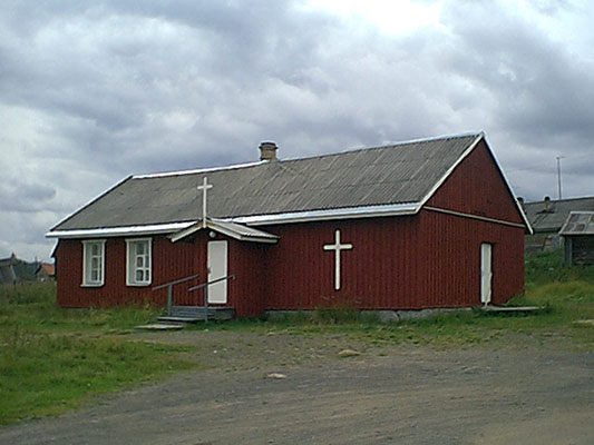 August 21, 2005. Derevjanka station. Lutheran parish house