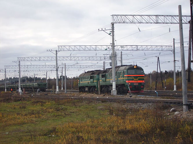 October 10, 2006. Derevjanka station. Railway station