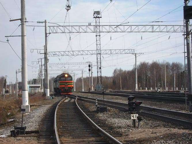April 15, 2007. Derevjanka station. Railway station