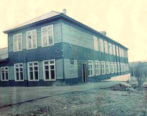1960's. Derevjanka station. School
