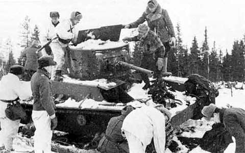 January 1940. Finns are acquainting with the captured tank