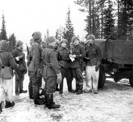 January 1940. Finnish soldiers