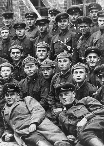 1939. Soviet soldiers of the 44th division
