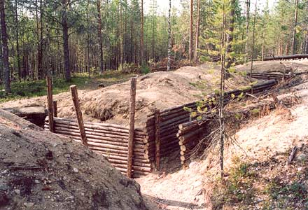 July 2003. Kalevala (Uhtua) district. The restored Finnish lines near the Kis-Kis Lake about 18 km from Kalevala