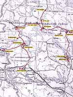 Expedition to Kalevala (Uhtua) district. The map