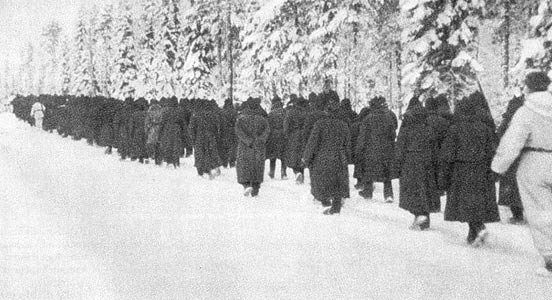 January 1940. Soviet soldiers - prisoners of war