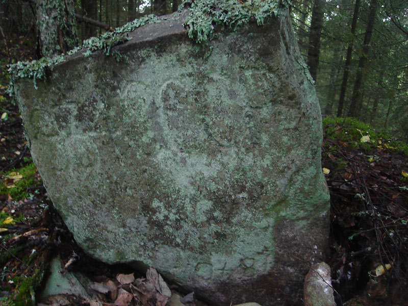 Late 2000's. The boundary stone near Hautavaara village