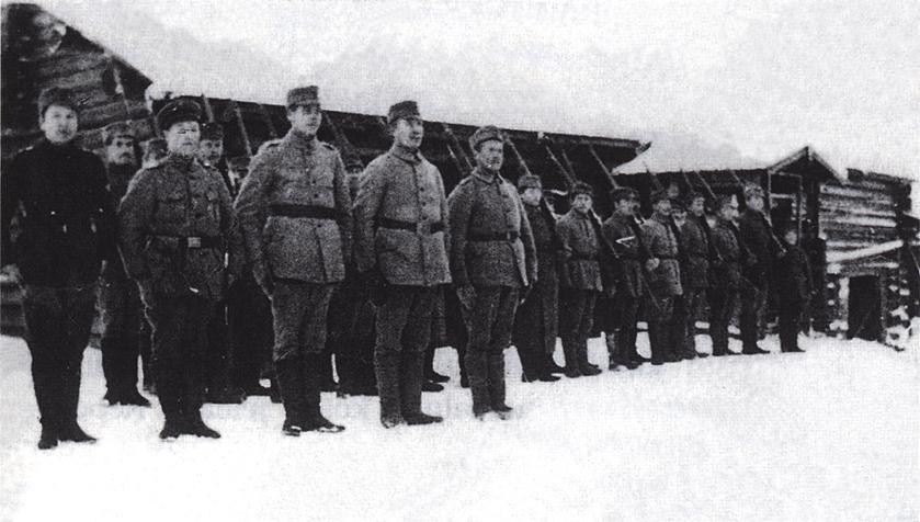 Январь 1919 года. Пограничный пост деревни Омелиа (Емельяновка), Ребольская команда Егерского полка Саво