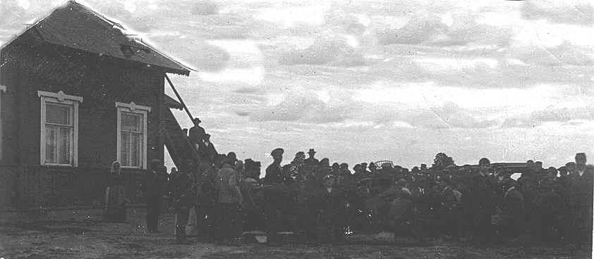 2 августа 1918 года. Реболы. Участники собрания за присоединение к Финляндии