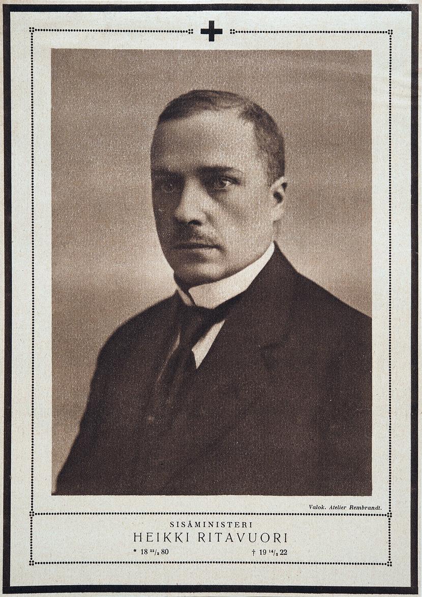 Начало 1920-х годов. Министр внутренних дел Хейкки Ритавуори