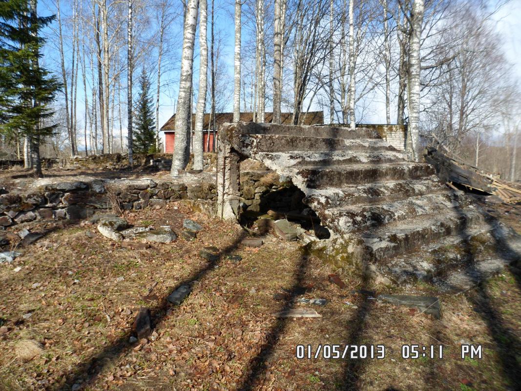May 1, 2013. Ruins of the Ruskeala church