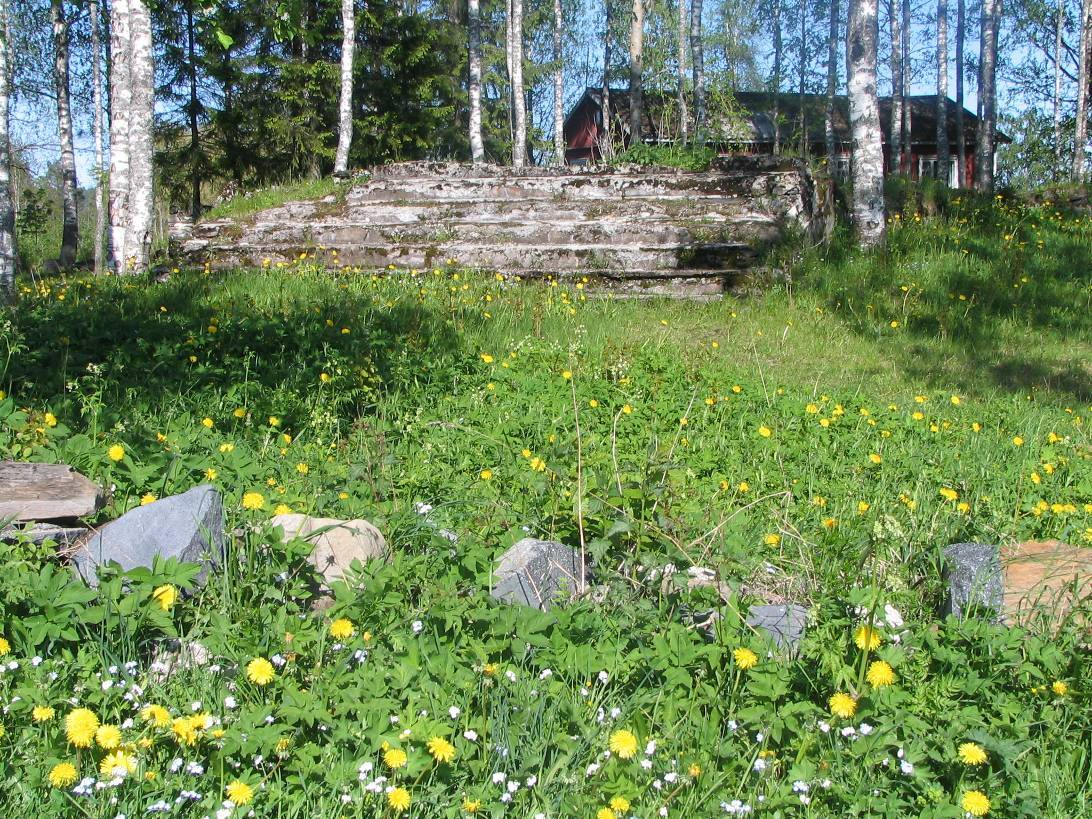 June 3, 2008. Ruins of the Ruskeala church