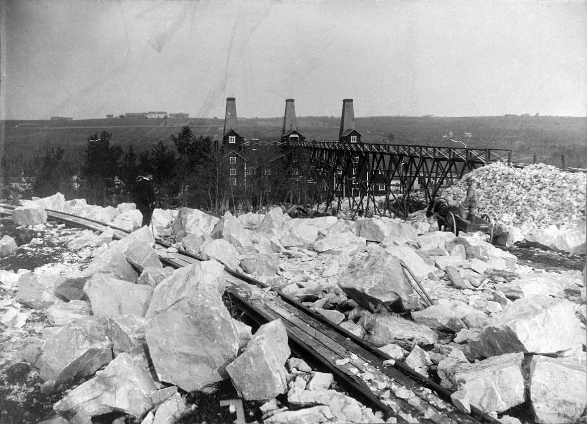 1930's. Ruskeala. Marble factory