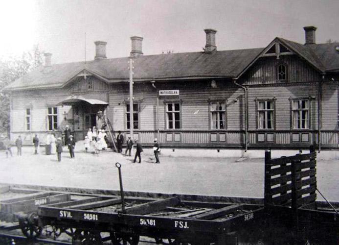 1920's. Matkaselkä railway station