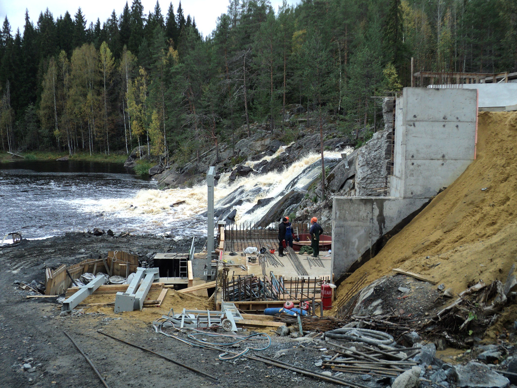September 22, 2012. Ruskeala. Ryymäkoski. Power Station