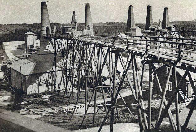 Конец 1930-х годов. Рускеала. Мраморный завод