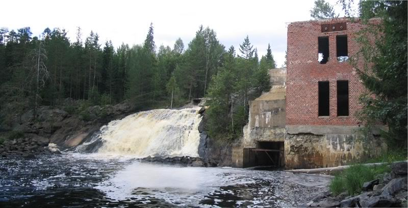 August 4, 2007. Ruskeala. Ryymäkoski. Power Station