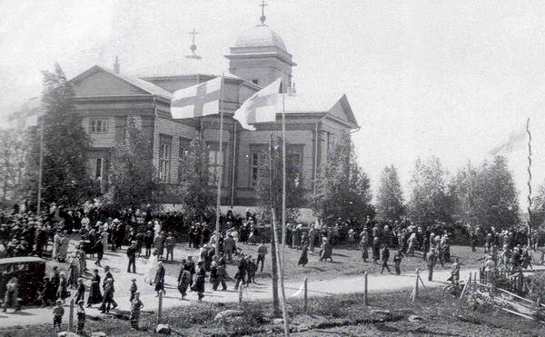 1934. Celebration of 100th anniversary of the Ruskeala church