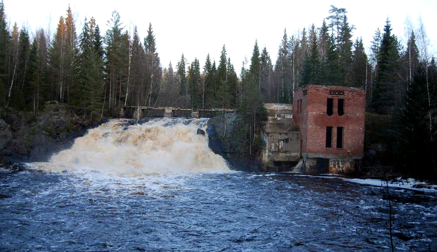November 2009. Ruskeala. Ryymäkoski. Power Station