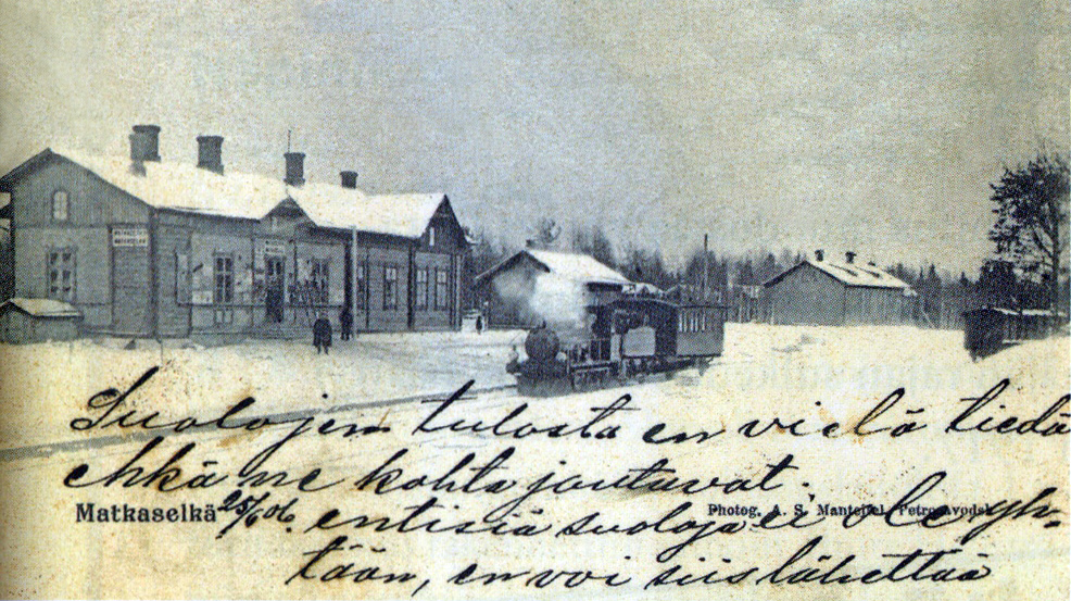 Early 1900's. Matkaselkä railway station