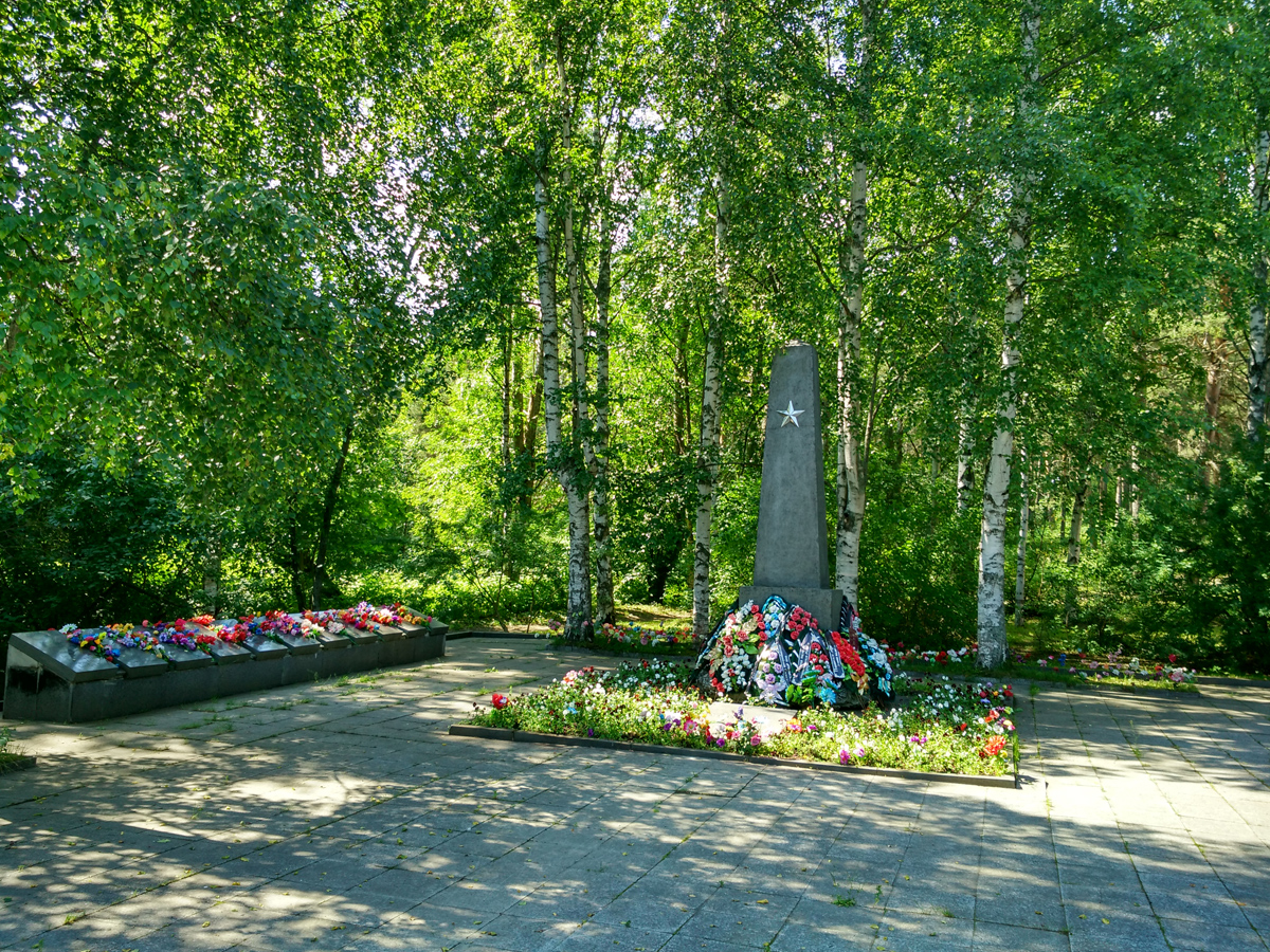 July 29, 2017. Solomennoye. Memorial to the Soviet soldiers