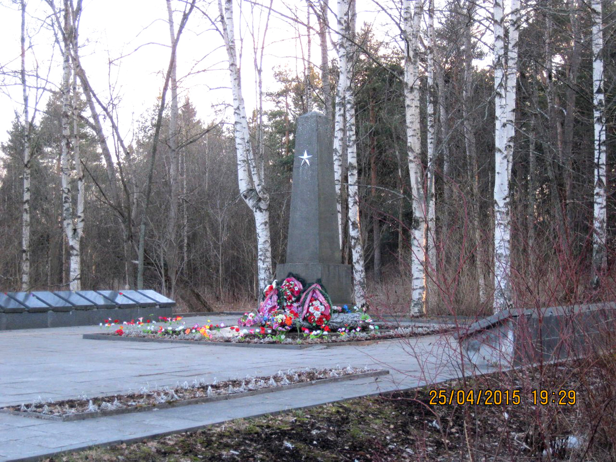 April 25, 2015. Solomennoye. Memorial to the Soviet soldiers