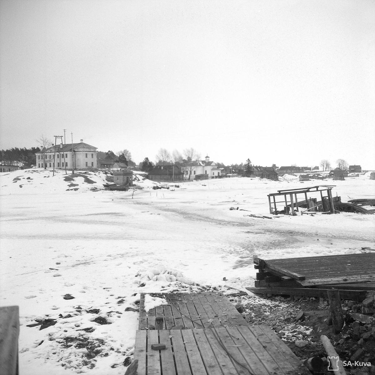 March 1, 1944. Solomennoye. Ferry-boat