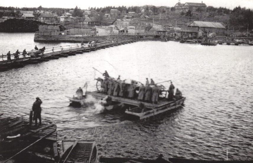 Октябрь 1941 года. Соломенное. Паромная переправа