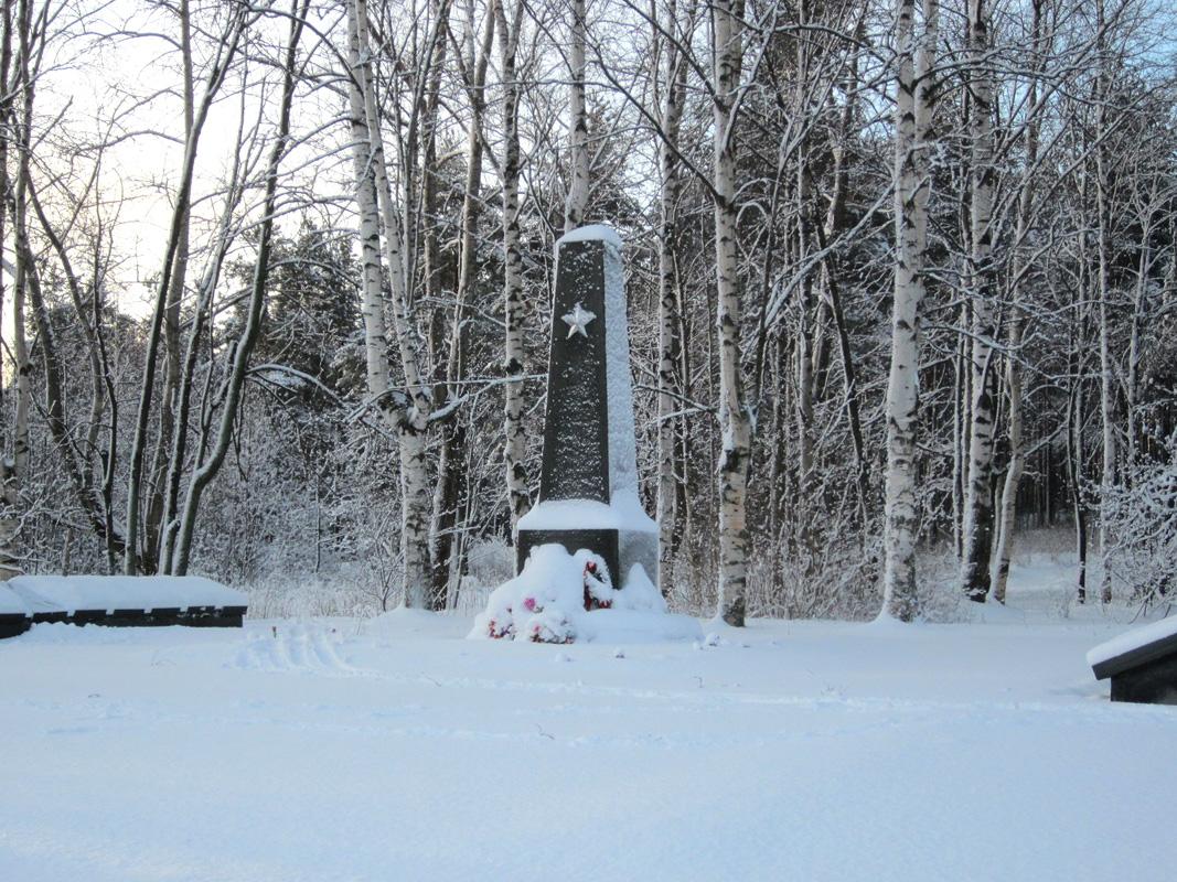 January 15, 2012. Solomennoye. Memorial to the Soviet soldiers
