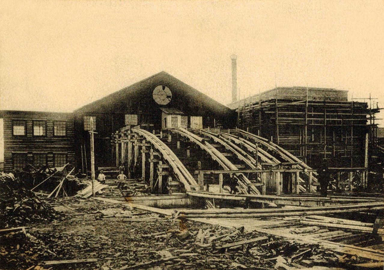 1930-е годы. Соломенное. Лесозавод