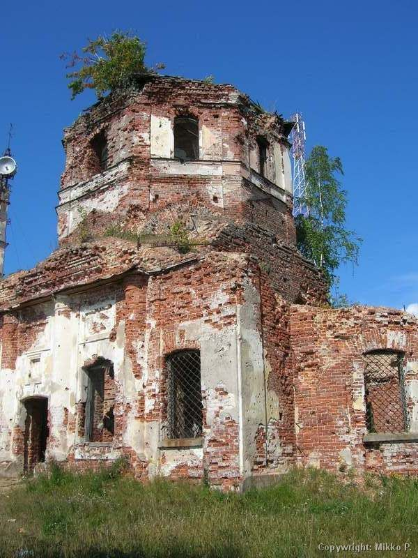 August 14, 2006. Ruins of the orthodox church