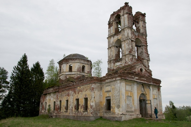 May 2012. Ruins of the orthodox church